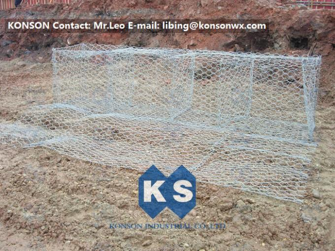 Flexible Hexagonal Wire Mesh 60x80mm Netting For Retaining Wall Structures
