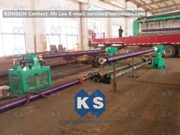 چین Double Twist Gabion Machine / Gabion Production Line With Automatic Oil System تامین کننده