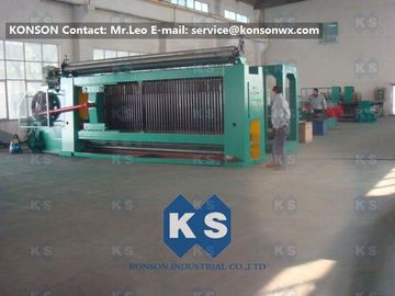 چین Galvanized And Zinc Coated Automatic Gabion Netting Machine , Max width 4000mm تامین کننده