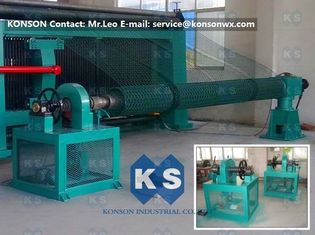 چین Twisting Metal Gabion Production Line Mesh Size 80 x 100mm With 4300mm Width تامین کننده