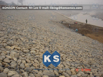 چین Large Gabion Stone Cage Retaining Wall Guide Gabion Mattresses In Road Building تامین کننده