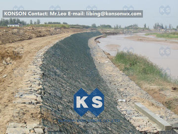 چین Large Stone Gabion Boxes / Gabions And Mattresses 80mm x 100mm 2.7mm Wire Dia تامین کننده