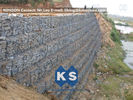 چین Defense Gabion Retaining Wall Hexagonal Wire Mesh with Galvanized Wire 2.7MM کارخانه