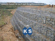 چین Galvanized Wire Gabion Retaining Walls Plastic or Stainless Steel Wire PE Coating Gabion Mattress کارخانه