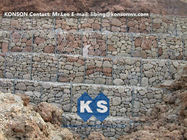 چین Hexagonal Wire Mesh Gabion Retaining Wall with Polyethylene PE Coated Gabion Wire کارخانه